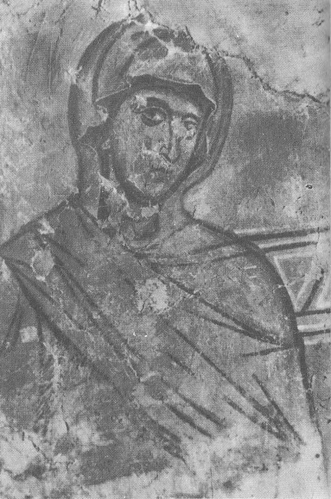 Жена. Фрагмент композиции «Иов на гноище» из Николо-Дворищенского собора в Новгороде. 1205