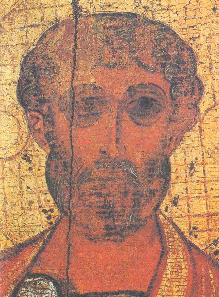 Голова апостола Петра. Деталь иконы