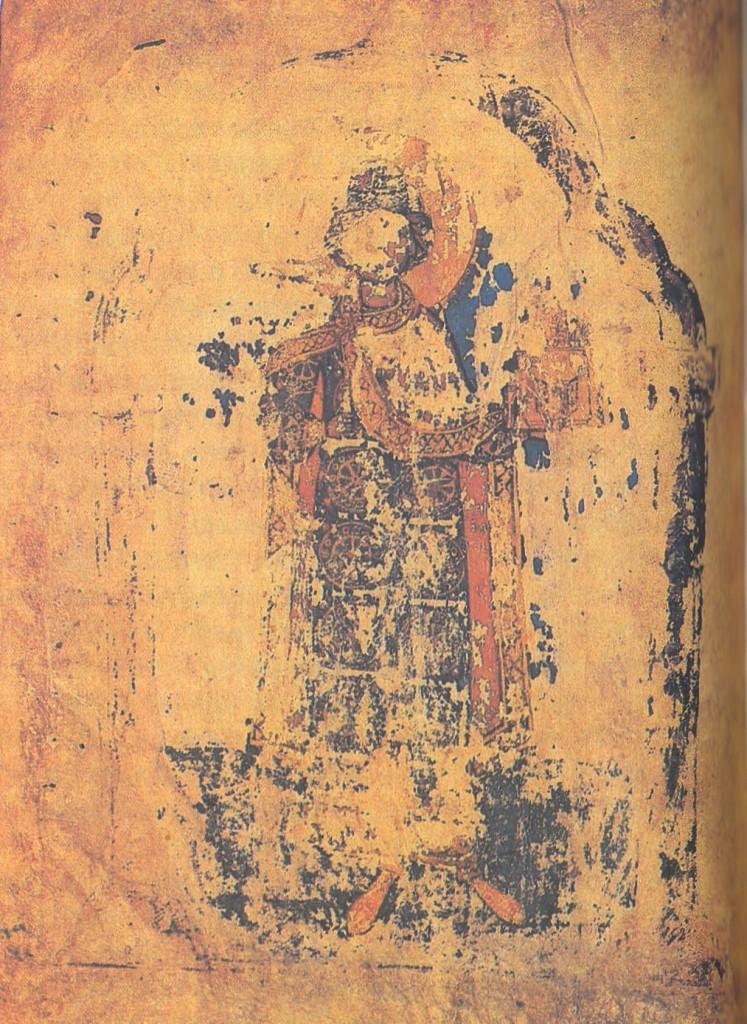 Князь Михаил-Борис (?). 1215—1220 Миниатюра выходного листа книги «Слово Ипполита о Христе и Антихристе»