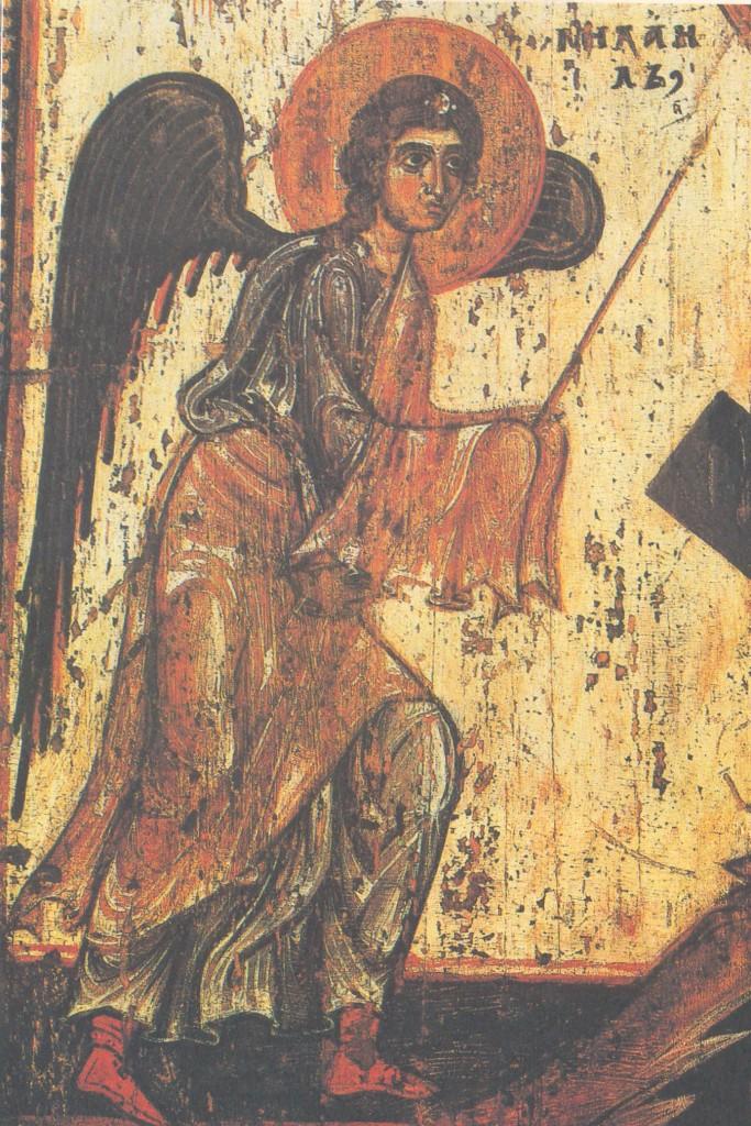 Херувим и серафим. Деталь иконы «Поклонение кресту»