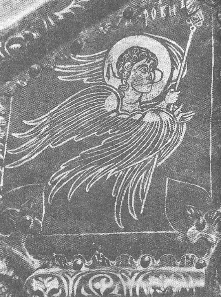 Херувим. Деталь западных «золотых» дверей суздальского собора Рождества Богоматери