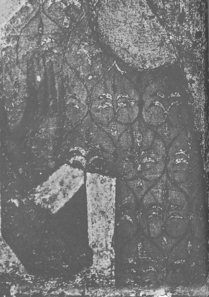 Святая Параскева. Фрагмент изображения на обороте иконы