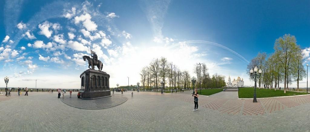 Панорама парка Пушкина. Фотограф — Роман Баринов.