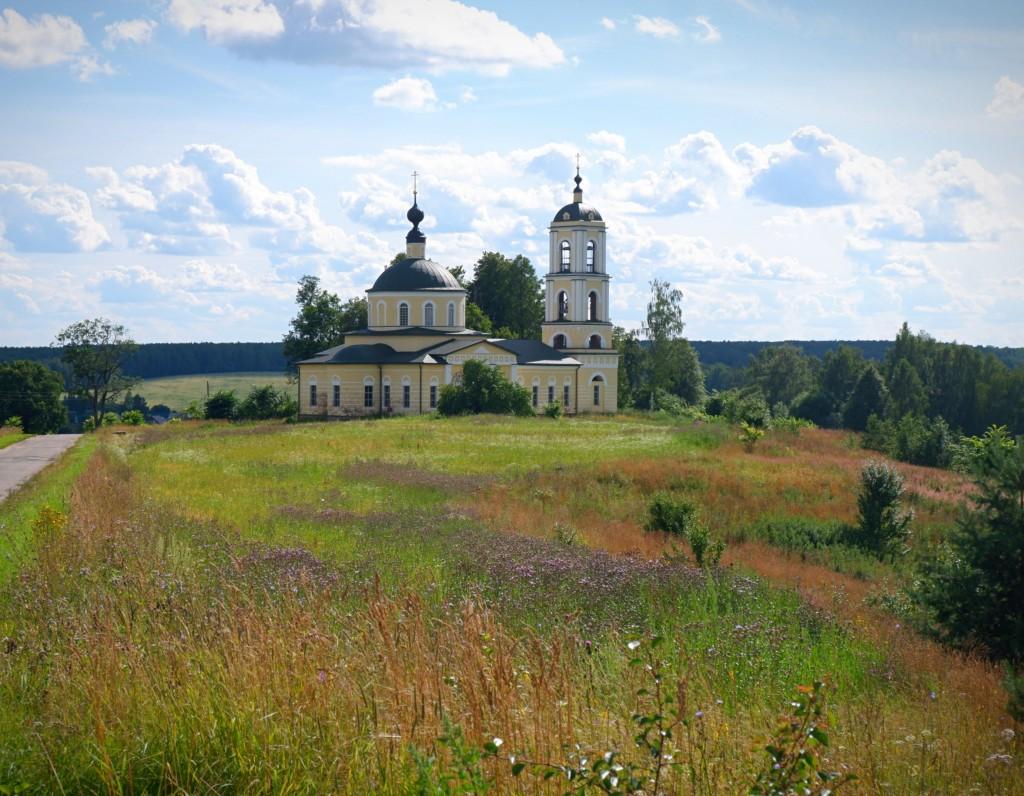 Село Глухово - место, где облака уплывают за горизонт. Собинский район 07